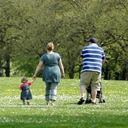Overweightfamilyatpark